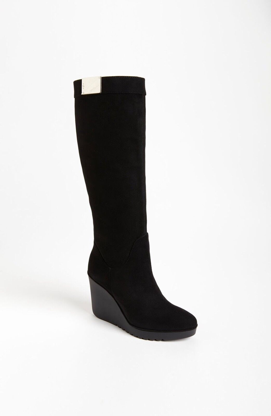 DONALD J. PLINER Lliya 02 Wedge Black Calf Calf Calf Suede Leather Boots SZ 10 Authentic b004bc