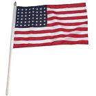 US Flag USA 48 Star 30cm X 46cm Stick Flag. Delivery