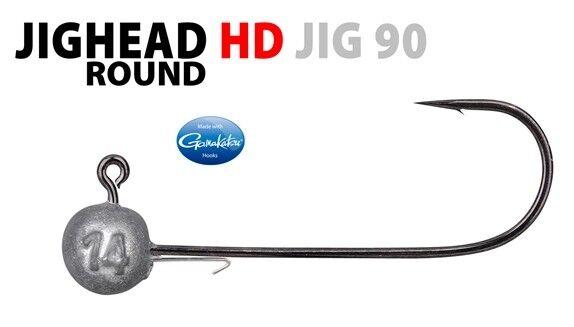 3x SPRO Round Jigkopf HD Jig 90 Gamakatsu Haken Twister Shad Gr 1//0-10g