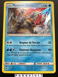 Carte-Pokemon-KYUREM-BLANC-63-214-HOLO-Soleil-et-Lune-8-SL8-FR-NEUF