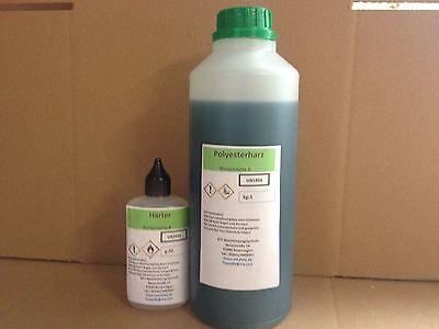 2kg Polyesterharz + 2% Härter - +1qm Glasfasergewebe 300g/qm 19,99 Portofrei!