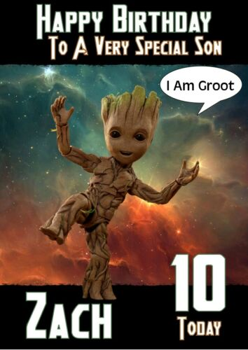 Personalised BIRTHDAY CARD Groot Tout Nom//Age//Relation.