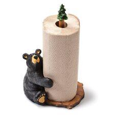 Jeff Fleming Bearfoots Brawnie Bruin Bear Hugging Paper Towel Holder Home Décor