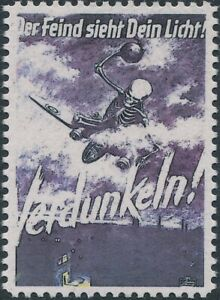 Stamp Replica Label Germany 0306 WWII 3rd Reich Darken Lights Enemy Can See MNH