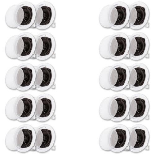 Acoustic Audio R191 In Ceiling Speaker 10 Pair Pack 2 Way 4000 Watt R191-10PR