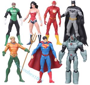 7pcs-Action-Figure-Toy-DC-Justice-League-7-034-Superman-Batman-Flash-Wonder-woman