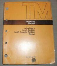 John Deere 540d 548d Skidder Technical Service Shop Repair Manual Book Tm1438