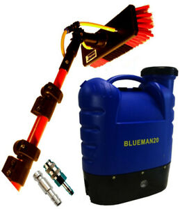20 L WINDOW CLEANING BACKPACK AND 25 FT  BAYERSAN WATER FED GLASS FIBRE POLE