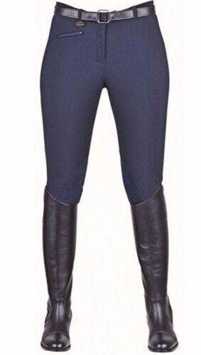 HKM BOCHUM Equitazione Calzoni Pantaloni Imitazione Pelle Ginocchio Patch Jodhpurs