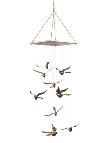 Hängedeko Vögel goldfarben natur by ARBD