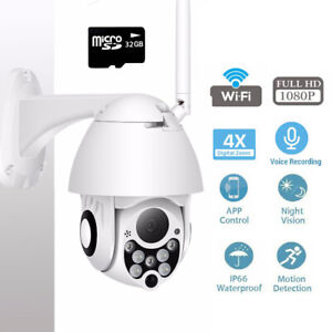 Details about Digital WiFi 4x Digital Zoom 2MP 1080P Camera CCTV Security  Cloud Storage+32GB
