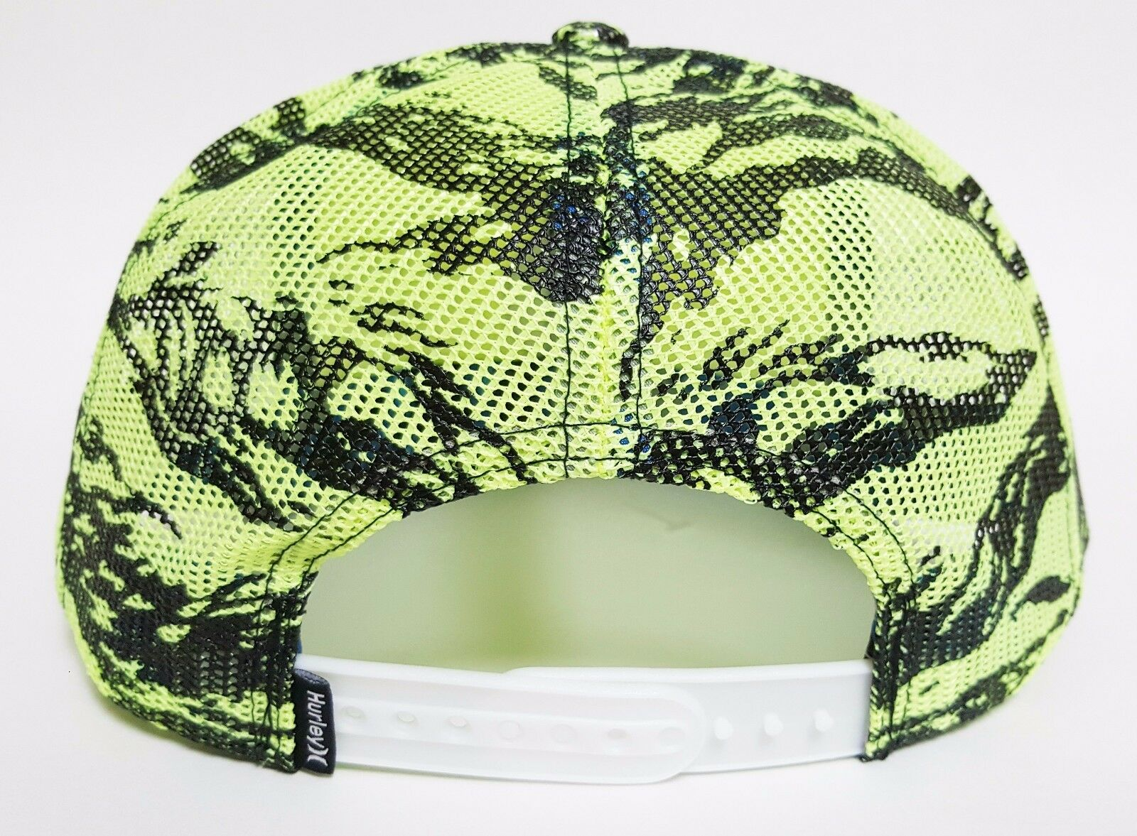 b3b9e65d6ea Hurley KRUSH Mesher Snapback Hat Yellow OSFA ( ) All-mesh Skate Camo Cap  for sale online