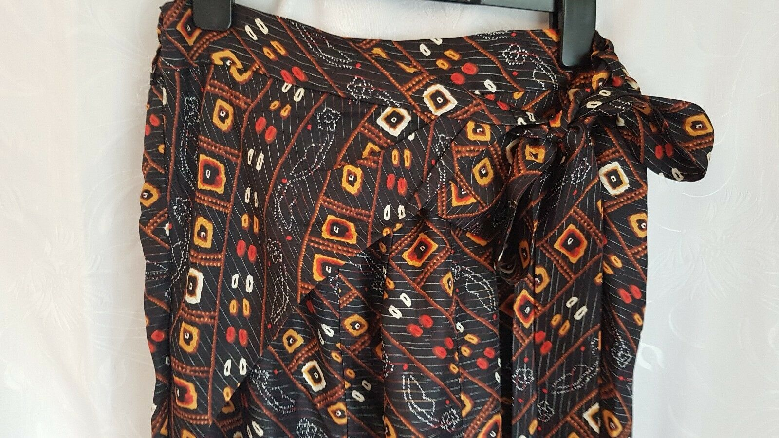 Isabel Marant drop credch runway Tribal print silk harem trouser New Tags