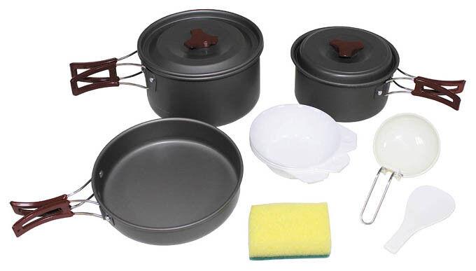 Utensilios de cocina set de aluminio anodizado sartén sartén olla cásCochea cuchara  nuevo
