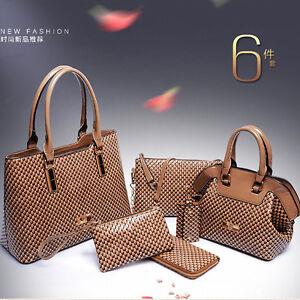 Image Is Loading New Hot Women 6pcs Set Shoulder Bag Satchel