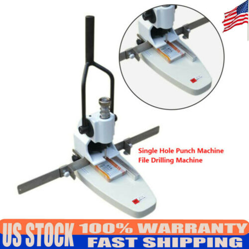Single Hole Invoice Paper Punch Machine File Drilling Machine QY-T30 B3 Size NEW