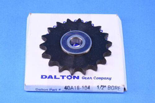 "Dalton Gear 40A18 104 Idler Bearing Roller Chain Single 5//8/"" Sprocket"