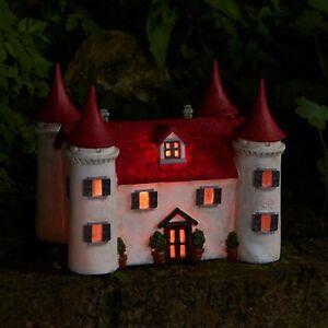 Large-LED-Fairy-Garden-Magical-Ornament-Mushrooms-Solar-House-Castle-Elf-Pixie
