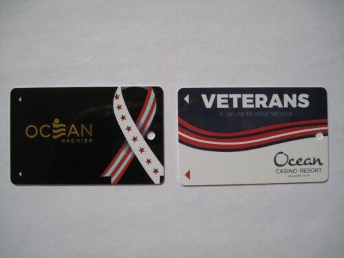 2 Veterans Ocean Casino Resort Atlantic City Players Cards NO NAME Unused Slots