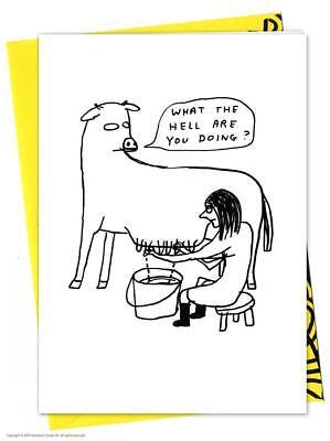 David Shrigley Birthday Greetings Card Funny Comedy Humour Novelty Cheeky Joke