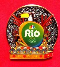 RIO DE JANEIRO 2016 OLYMPIC LAPEL PIN MEDIA SPONSOR NBC CARNIVAL BRAZIL TOUCAN