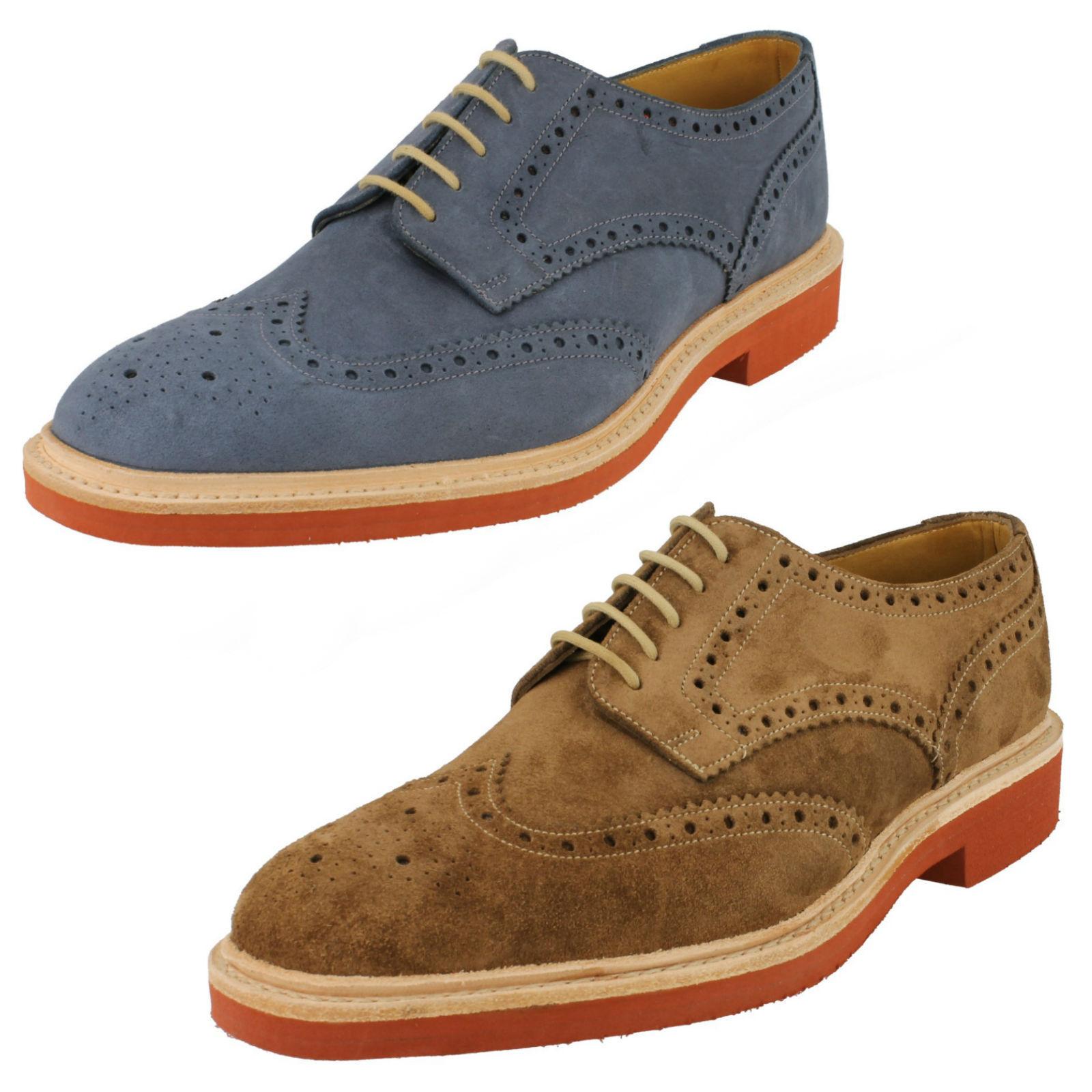 Loake Hombre Completo Zapato Oxford Casual con Cordones Engrasado de Cuero Ante