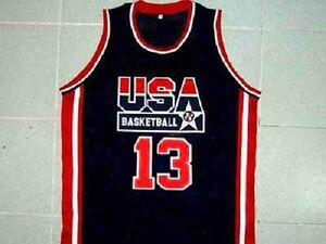 quality design 53bcd aa0cb SHAQUILLE O'NEAL TEAM USA BASKETBALL JERSEY SHAQ QUALITY ...