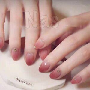 Christmas-Red-Fake-Nails-With-Glitter-24pcs-Acrylic-Full-Square-False-Nails