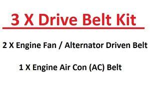 Gates DRIVE Courroie Ventilateur Poulie Alternateur pour Ford Ranger 2.5 3.0 D TD TDCi