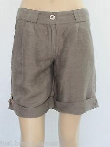 Target-Ladies-Fashion-Tribal-Linen-Cuffed-Shorts-sizes-8-10-Colour-Mocha