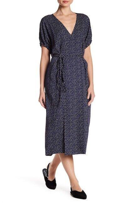Vince Celestial Polka Dot Silk Blend Midi Dress (size L)