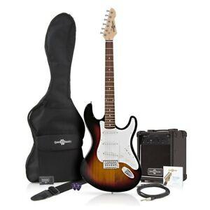 Guitare électrique Starter Pack Débutant Bundle Amp, Mène, Gig Bag, Musique Ensemble Neuf.-afficher Le Titre D'origine