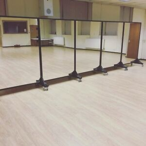 Captivating Image Is Loading FOUR Portable Mirrors Gym Dance Fitness Beauty