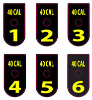 Springfield Xd / Xdm 40 Cal Yellow Number Set 1-6 Magazine Base Plate Stickers