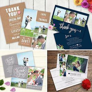Image Is Loading Personalised Photo Wedding Thank You Cards Inc Envelopes