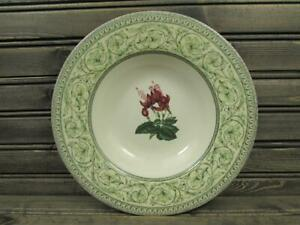 Applebee-Collection-by-Royal-Horticultural-Soup-Bowl-Green-Bands-Floral-Center