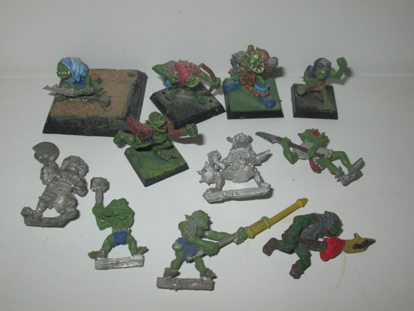 Warhammer orcos y goblins 11x hierro garra modelos mixtos mixtos mixtos 1987 metal fuera de 3823 ffa544