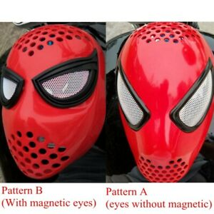 Homecoming Civil War Amazing Spider-Man Faceshell with Lenses Cosplay Masks Prop