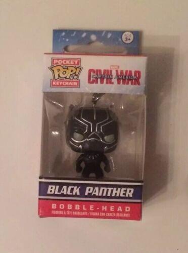 Pocket Keychain Marvel Civil War Black Panther Age 3 Pop Funko New Unopened