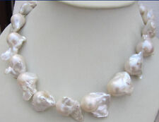 100% NATURAL HUGE AAA 15-26MM SOUTH SEA WHITE BAROQUE PEARL NECKLACE 18 INCH