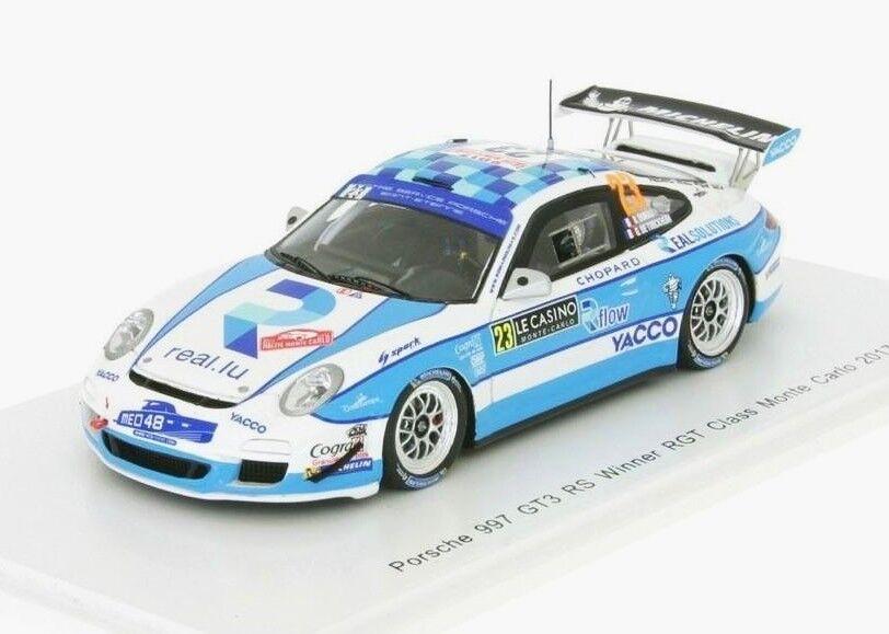Porsche 997 GT3 RS n.23 Winner RGT Monte Carlo 2017 Dumas S5160 Spark 1 43 NEW