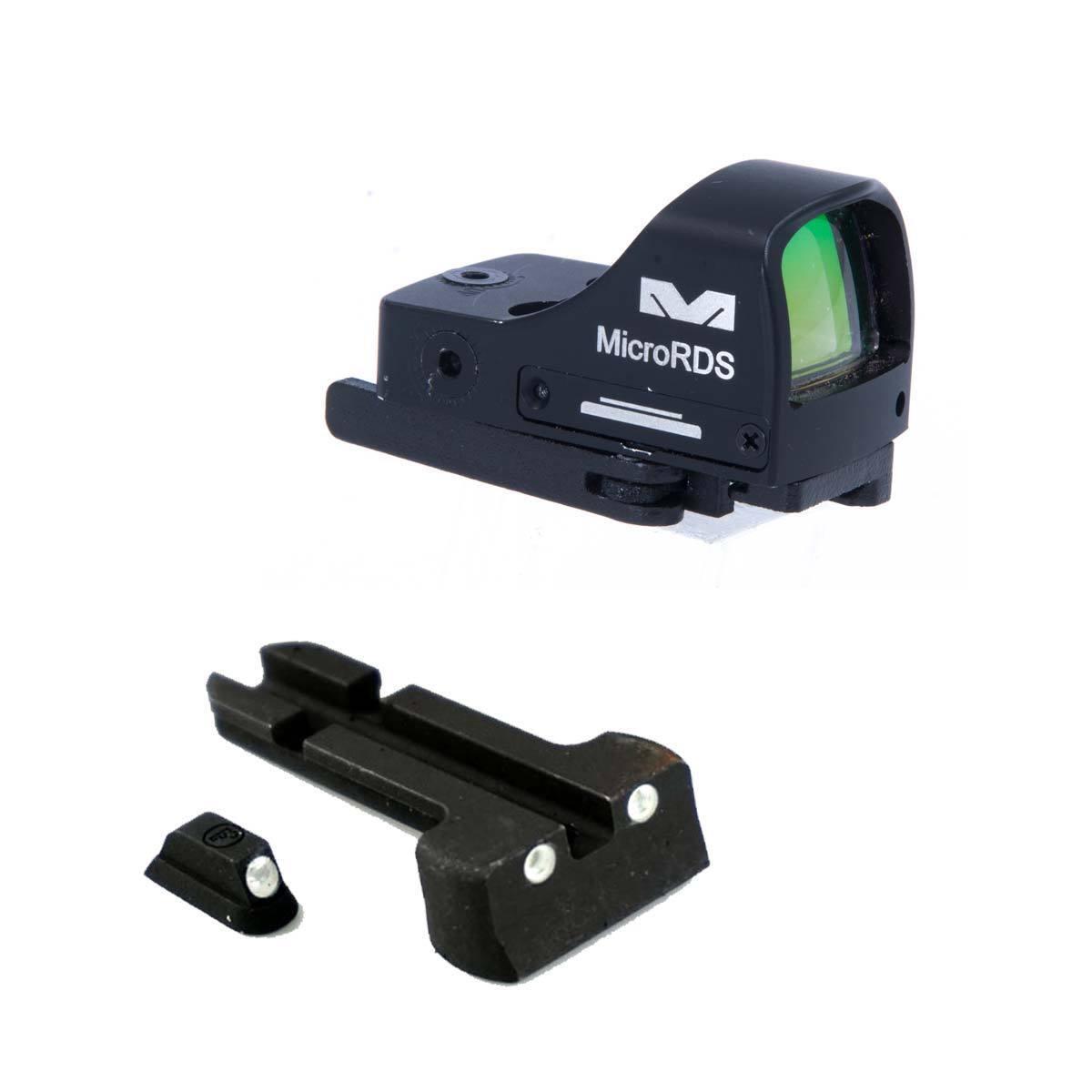 Meprolight Micro RDS óptica Vista Punto Rojo Kit Para Glock 17 19 22 23 31 32 33 34