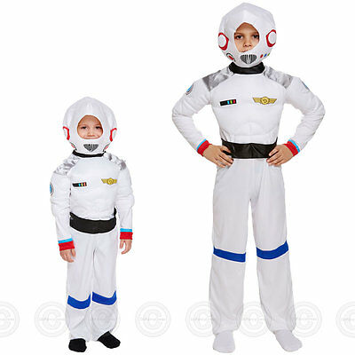 BOYS SPACE FANCY DRESS COSTUME ASTRONAUT SPACESUIT SPACEMAN CHILDS KIDS NEW BOY
