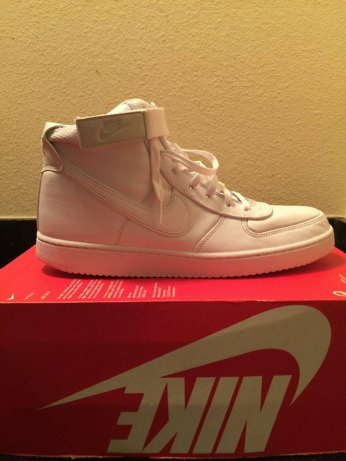 Nike Vandal High Supreme LTR AH8518-100 White Size 9.5 Leather John Elliot Pack