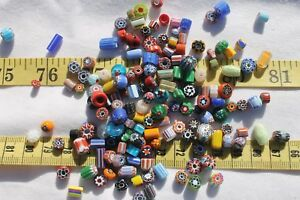 Assorted-Chevron-4mm-12mm-Glass-Tube-amp-Rondelle-Beads-Crafts-Jewelry-1oz-RS91