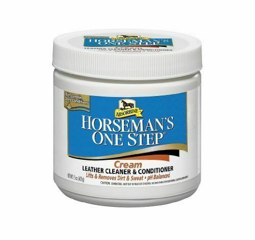 (p)Absorbine Horseman's One Step Leather Tack Cleaner & Conditioner 425g Cream