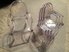 1:6 Clear Acrylic Ghost Armchair SET of 4 for Fashion Royalty, Barbie