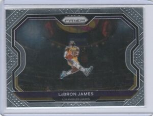 2020-21 Panini Prizm LeBron James Base Card  #1 Kobe Tribute Dunk