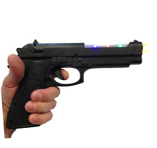 Kids Plastic Toy Police Gun 9mm Toy Set Battery Operated