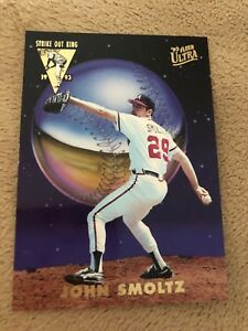 1993 Fleer Ultra Strike Out King John Smoltz baseball Card NM-MT